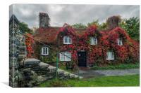 Autumn Cottage , Canvas Print