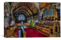 Christmas Church Service , Canvas Print