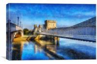 Conwy Suspension Bridge, Canvas Print