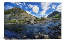 PePen yr Ole Wen and Tryfan, Canvas Print