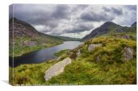 Tryfan and Lake Ogwen, Canvas Print