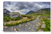 Ramblers Path To Tryfan, Canvas Print