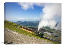 Steam Train To Snowdon , Canvas Print