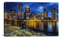 Downtown At Night, Canvas Print