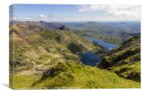 View From Snowdon Summit, Canvas Print