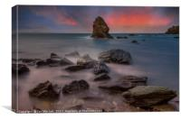 Rhoscolyn Rocks , Canvas Print