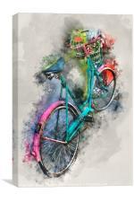 Olde Vintage Bicycle, Canvas Print