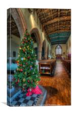 Church At Christmas, Canvas Print