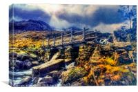 Idwal Bridge, Canvas Print