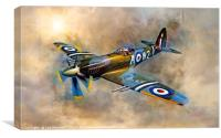 Spitfire Dawn Flight, Canvas Print