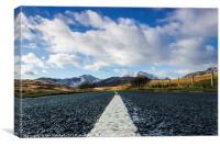 Road to Snowdon, Canvas Print