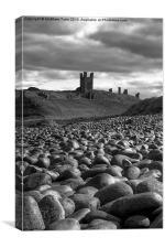 Dunstanburgh Castle Rocks, Canvas Print