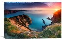 Pembrokeshire Coast Sunset, Canvas Print
