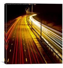 Cars on Motorway, Canvas Print