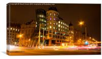 Dancing House in Prague, Canvas Print