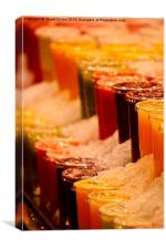 Fruit Smoothies on Ice, Canvas Print