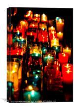 Church Candles, Canvas Print