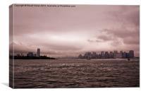 Hudson Skyline, Canvas Print