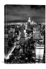 Empire State at Night, Canvas Print