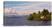 House on Loch Lomond, Canvas Print