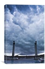 Pont Gustave-Flaubert, Canvas Print
