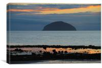 Ailsa Craig Scotland, Canvas Print