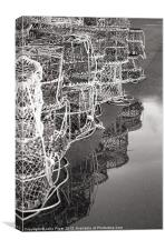 Lobster Pots Reflection, Canvas Print