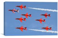 Red Arrows topside, Canvas Print