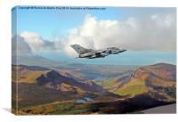 RAF Tornado low level, Canvas Print