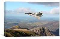 Saab Draken low level, Canvas Print