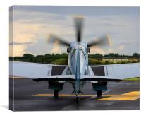 RAF Spitfire aircraft, Canvas Print