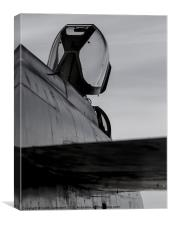 Lightning XS904 - black and white, Canvas Print
