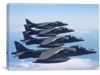 Harrier GR7As, Canvas Print