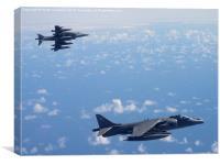 RAF Harrier Breakaway, Canvas Print