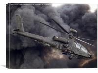 British Army AH-64 Apache, Canvas Print