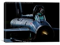 RAF Lightning XR728 starting engines, Canvas Print