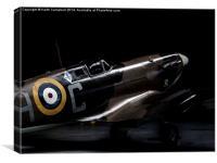 Spitfire LF-Vb, G-MKVB, Canvas Print