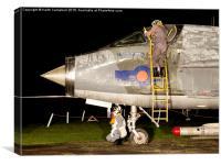 RAF Lightning night flight, Canvas Print