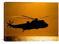 Sunset Seaking , Canvas Print