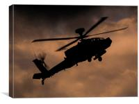 Apache sunset, Canvas Print