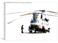 Chinook preparing for flight., Canvas Print