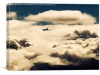 Vulcan at Altitude, Canvas Print