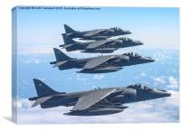 Harrier GR7A formation, Canvas Print