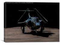 Buccaneer taxies out, Canvas Print