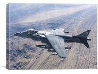 RAF Harrier ZD348, Canvas Print