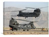 US Army Chinook MH-47D pair, Canvas Print