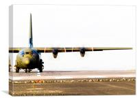 Royal Air Force C-130 Hercules, Canvas Print