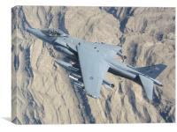 Royal Air Force Harrier ZD348, Canvas Print