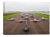 Bruntingthorpe aircraft, Canvas Print