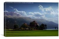 St Moritz, Canvas Print
